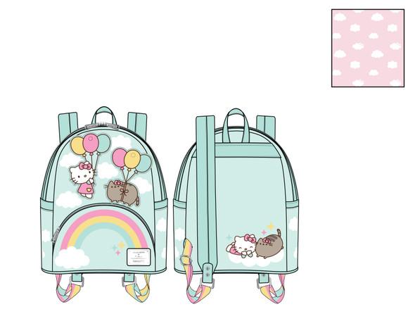 Loungefly Pusheen X Hello Kitty Balloons & Rainbow Mini