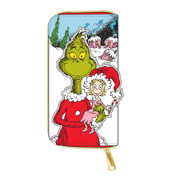 Loungefly Dr. Seuss The Grinch Loves The Holidays Zip Around Wallet