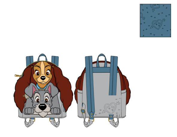Loungefly Disney Lady And The Tramp Cosplay Mini Backpack