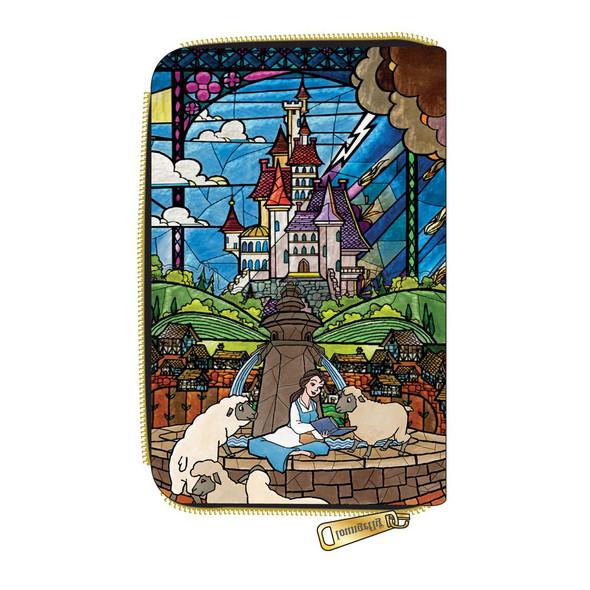 Loungefly Disney Princess Castle Series Belle Zip Around Wallet