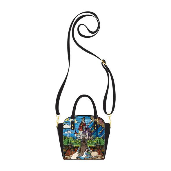 Loungefly Disney Princess Castle Series Belle Cross Body Bag