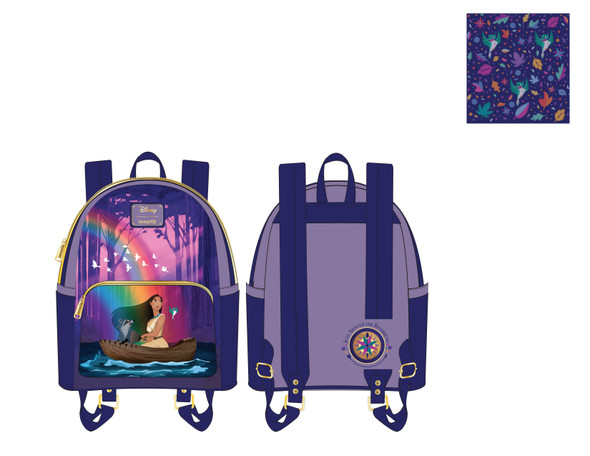 Loungefly Disney Pocahontas Just Around The River Bend Mini Backpack