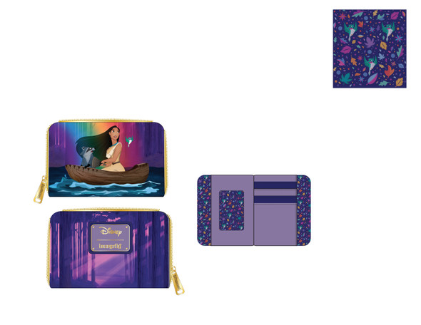 Loungefly Disney Pocahontas Just Around The River Bend Zip Around Wallet