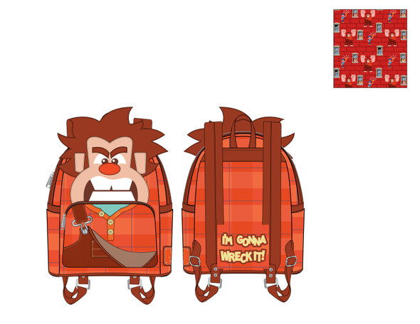 Loungefly Disney Wreck It Ralph Cosplay Mini Backpack