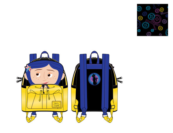 Loungefly Laika Coraline Rain Coat Cosplay Mini Backpack