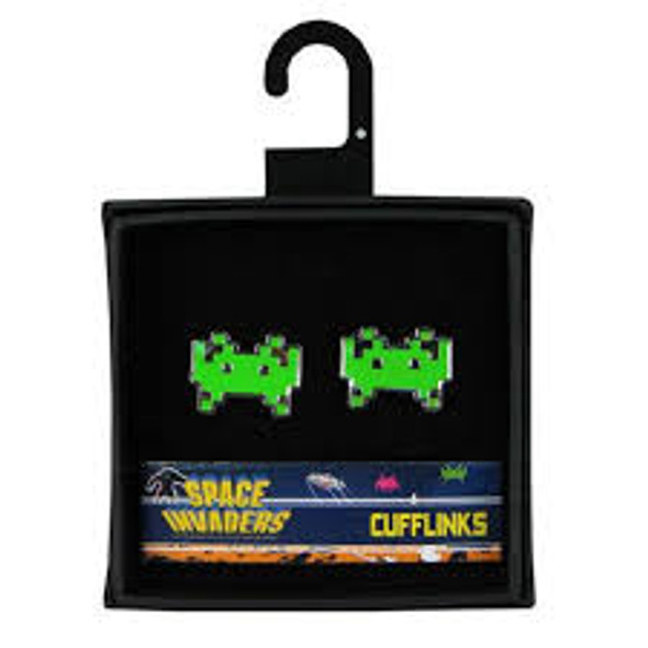 space invaders cuff links