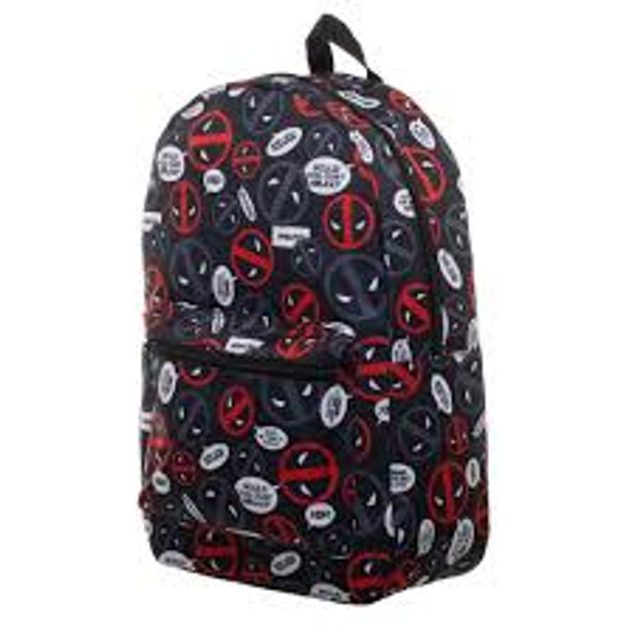 Deadpool Bubble Print Subliminated Backpack