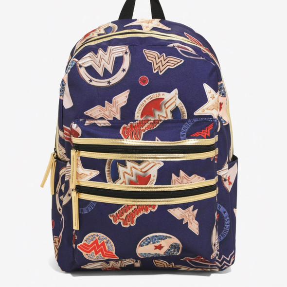 Wonder Woman Double Zipper Backpack