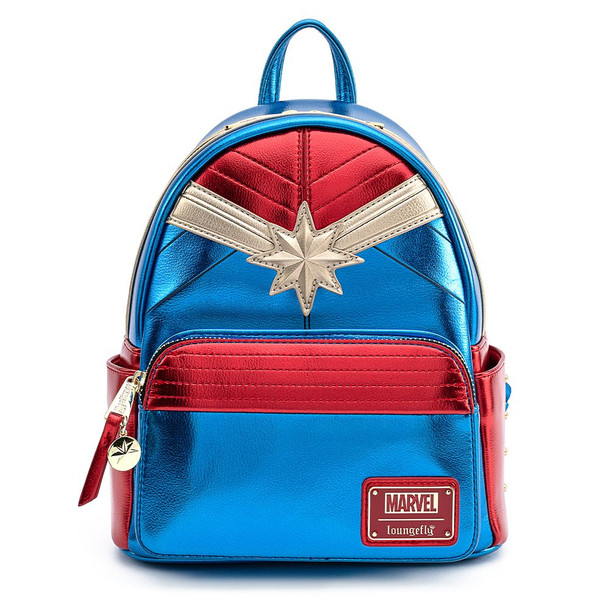 Loungefly Marvel Captain Marvel Classic Cosplay Mini Backpack
