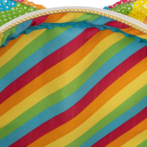 Loungefly Disney Sequin Rainbow Minnie Mini