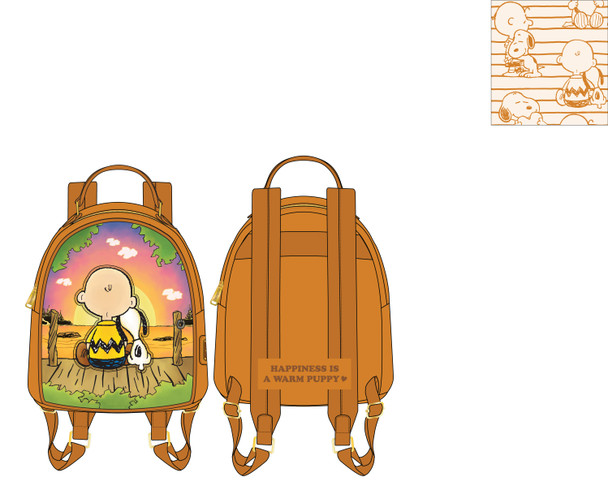 Loungefly Peanuts Charlie and Snoopy Sunset Mini