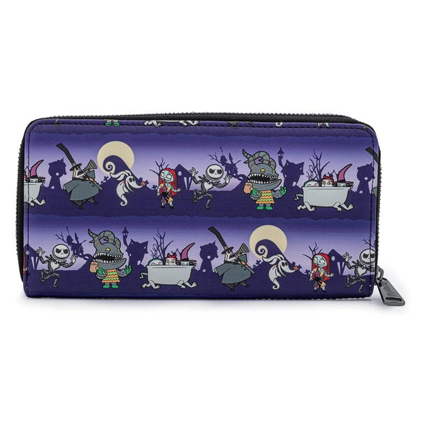 Loungefly Disney Nbc Halloween Line Zip Around Wallet