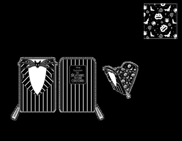 Loungefly Disney Nbc Jack Skellington Suit Accordian Wallet