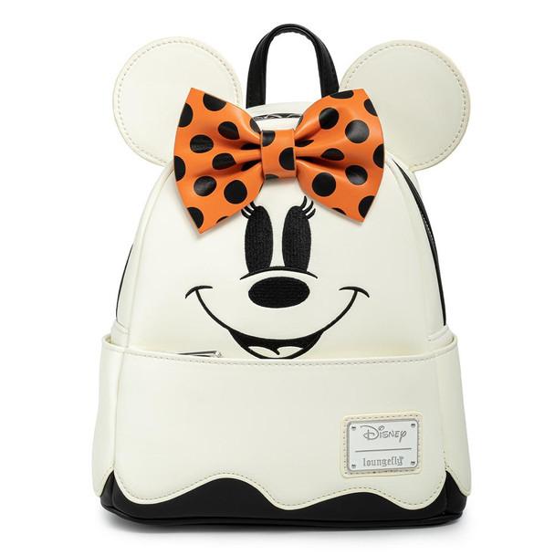 Loungefly Disney Ghost Minnie Glow In The Dark Cosplay Mini