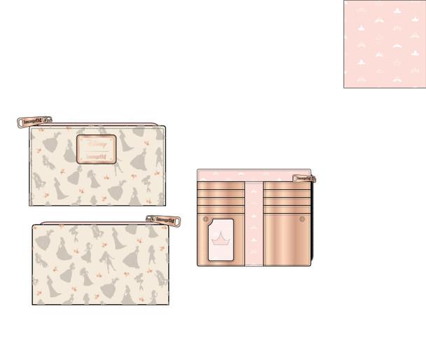 Loungefly Disney Ultimate Princess Aop Flap Wallet