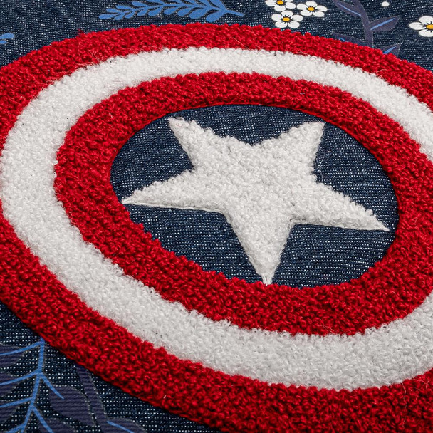 Loungefly Marvel Captain America Floral Sheild Cross Body