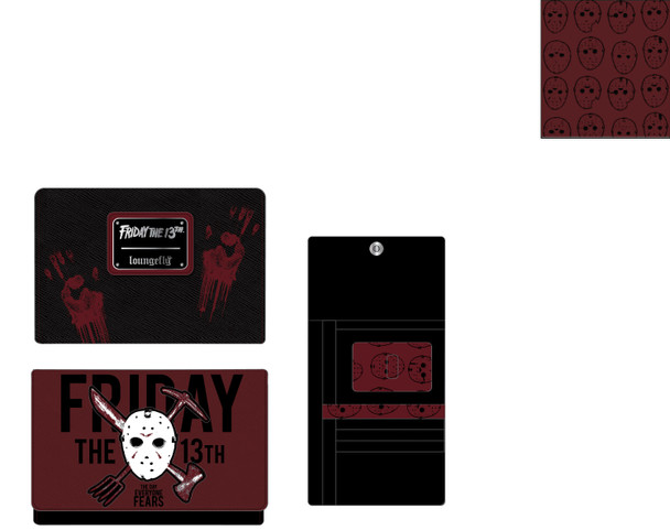 Loungefly Friday The 13Th Jason Mask Tri-Fold Wallet