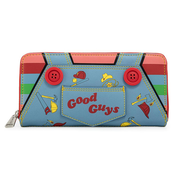 Loungefly Childs Play Chucky Cosplay Zip Around Wallet