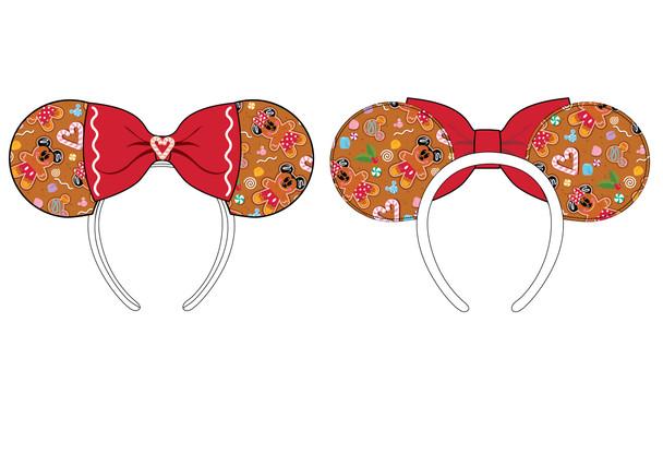 Loungefly Disney Ginger Bread Aop Patent Bow Heart Headband