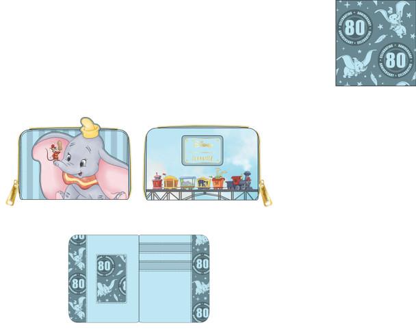 Loungefly Disney Dumbo Zip Around Wallet