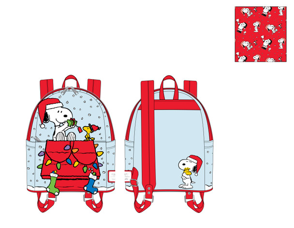 Loungefly Peanuts Gift Giving Snoopy & Woodstock Mini