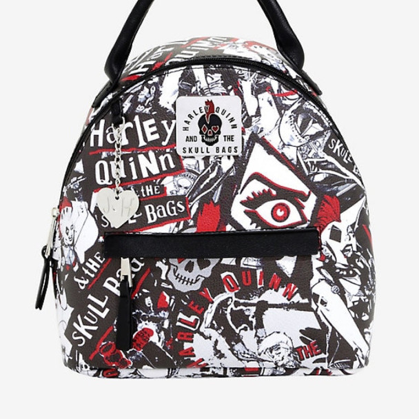 Harley Quinn Mini Skull Backpack