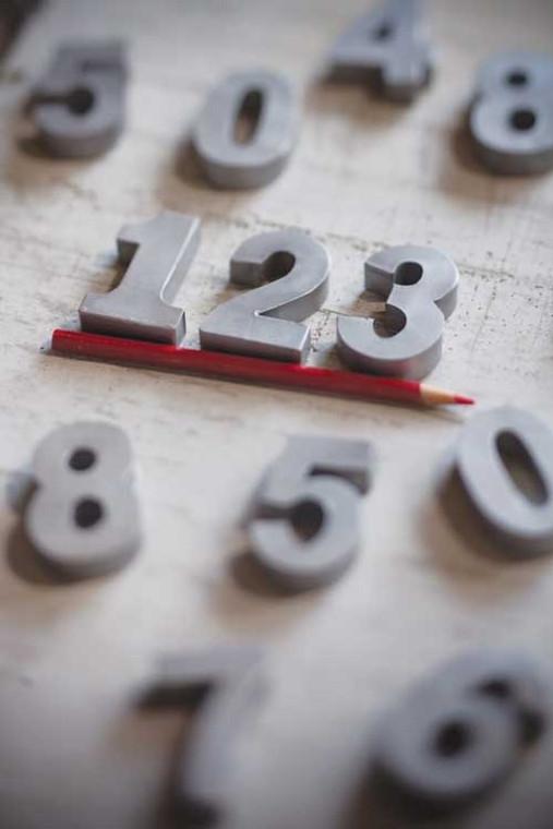Set of Zinc Numbers 0-9