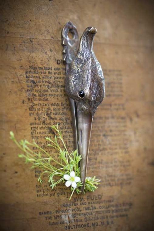 Antique Brass Stork Clip