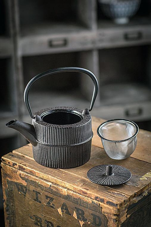 Cast Iron Brown Teapot II