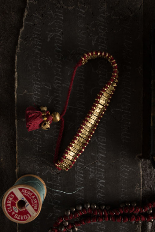 Gold and Red Bracelet