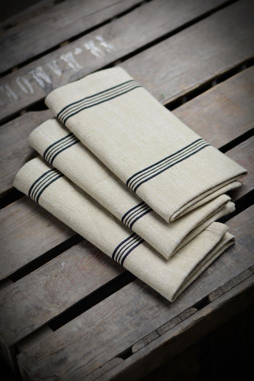 Black Striped Cotton Napkin