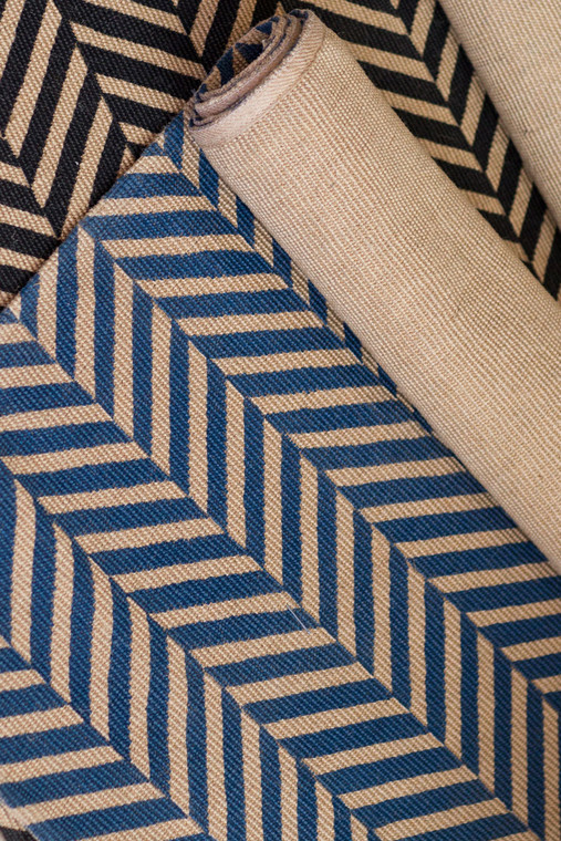 Chevron Pattern Runner - Blue