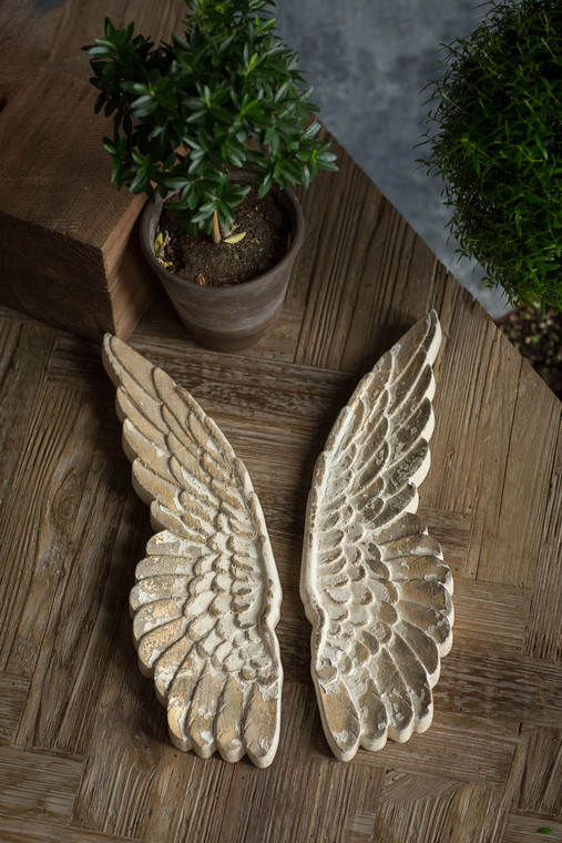 Hand Carved Wooden Angel Wings