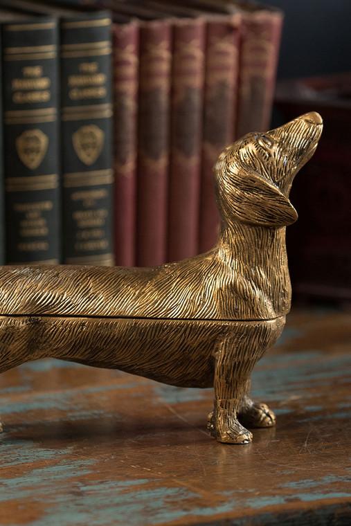 Brass Finish Dog Storage Box