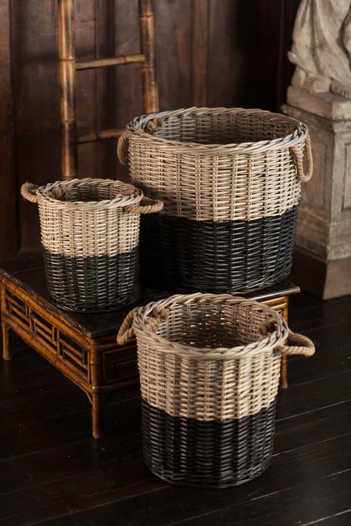 Willow Dipped Black Basket Set
