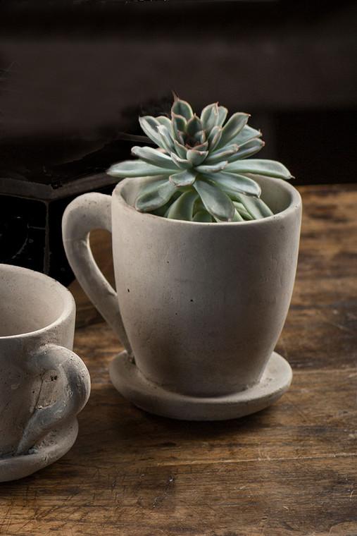 """Concrete """"Coffee Mug"""" Planter"""