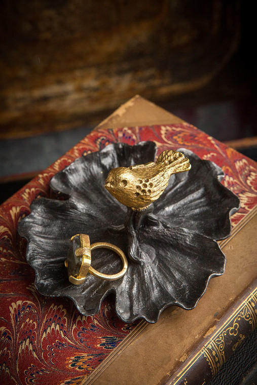 Pewter Bird Jewelry Tray