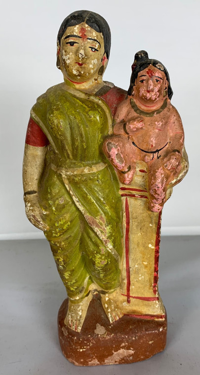 Vintage Handmade Terracotta Statue from India 8