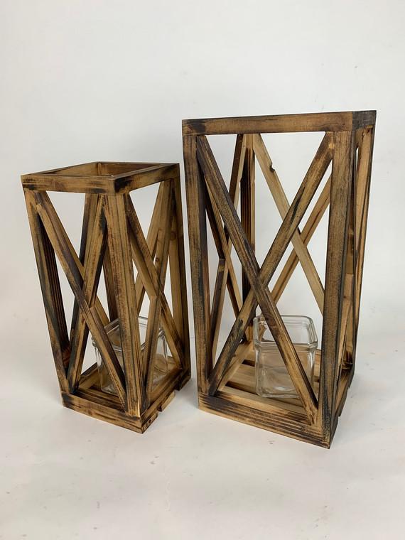 Wooden Lantern Set of 2