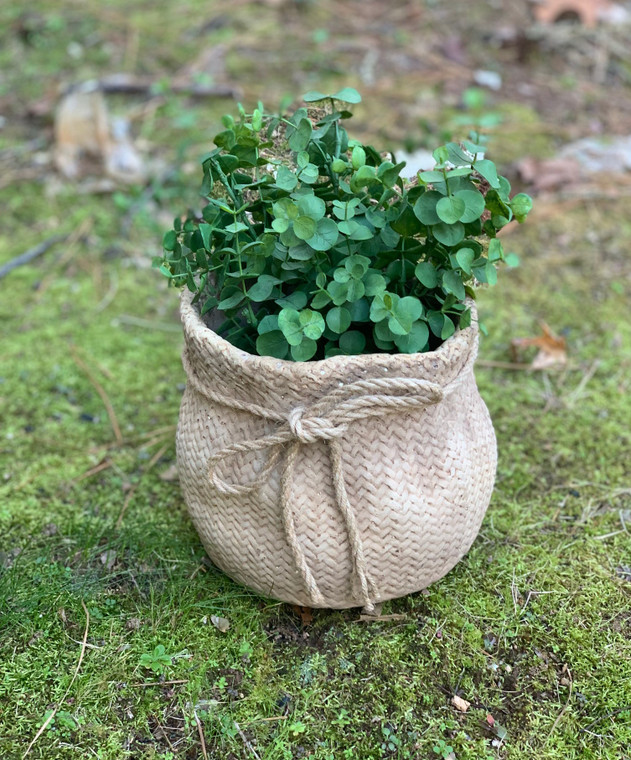 Small Cement Sack with Rope Tie