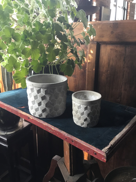 Small Geometric Cement Planter