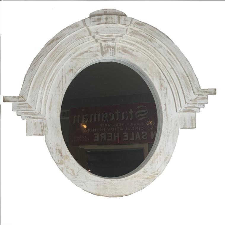Mansard Mirror in White Finish