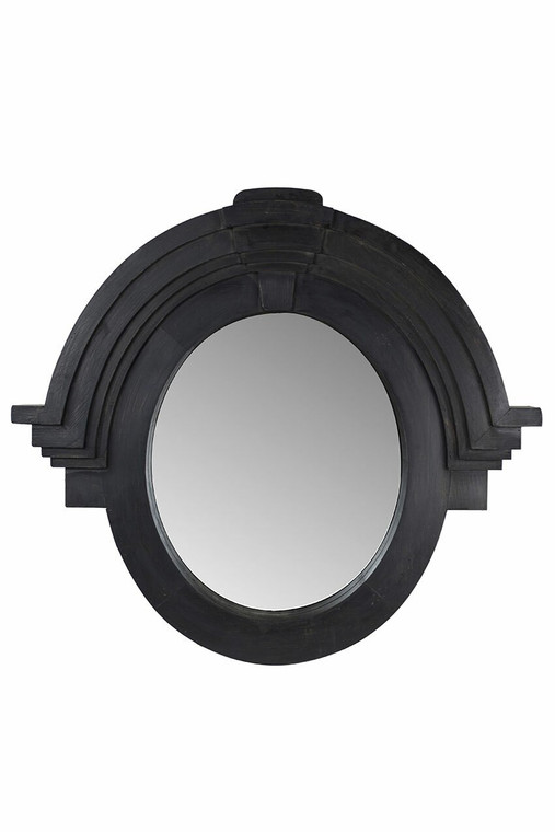Mansard Mirror in Black Finish