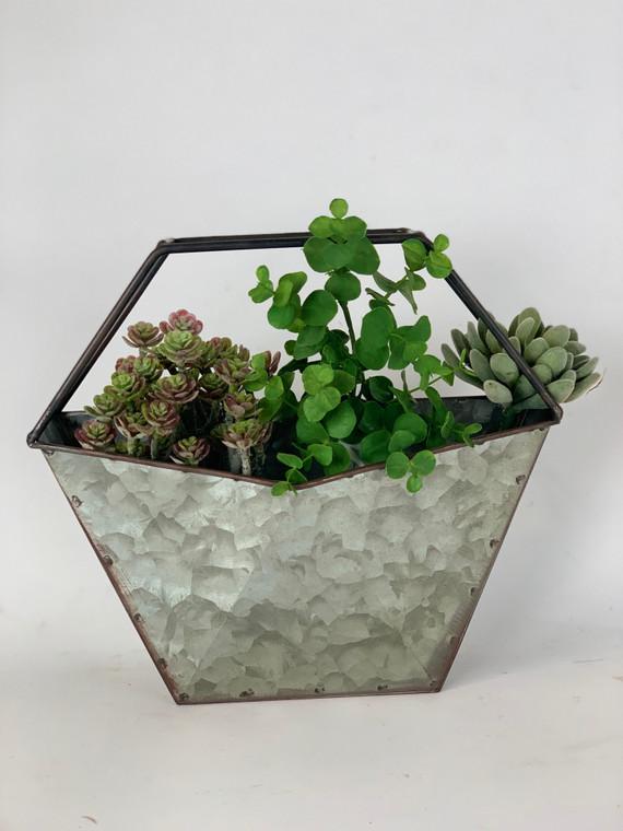 Galvanized Zinc Desktop Planter
