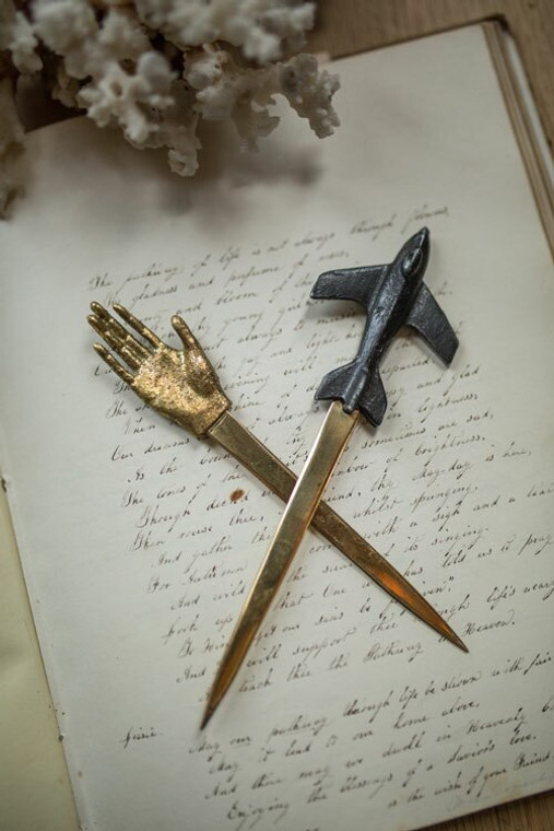 Pewter Airplane Letter Opener