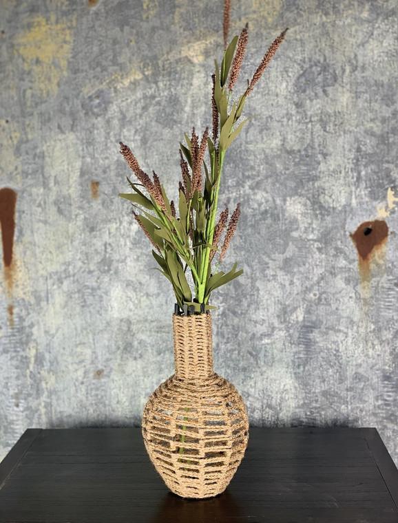 Jute Macrame Vase