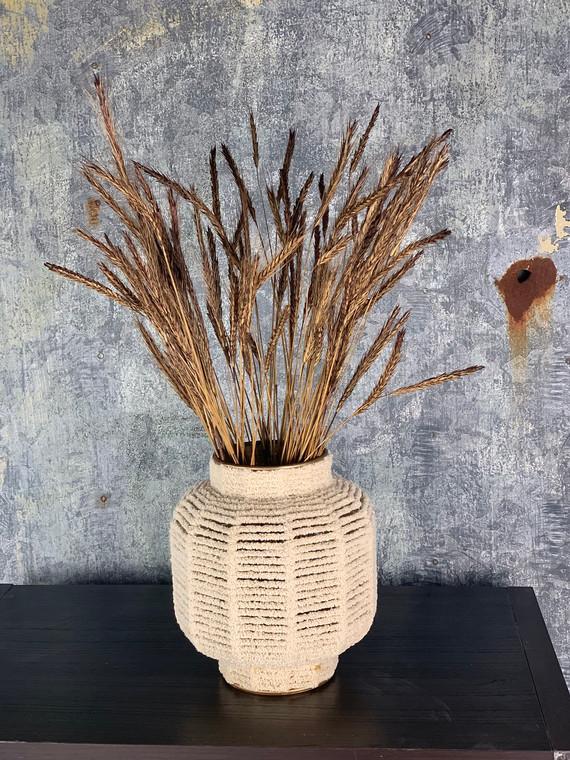 White Macrame Vase