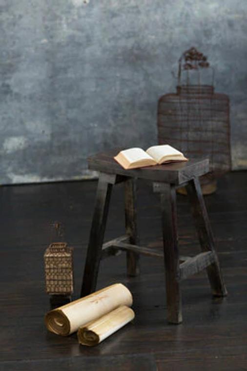Wooden Stool in Dark Finish