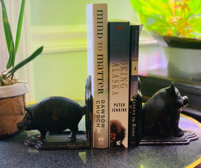 Set of Pigs Cast Iron Bookends