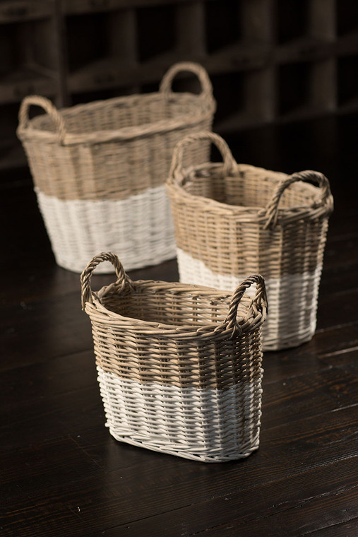 Oval Willow Baskets Set of 3